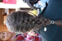 One of the kids braided my hair!